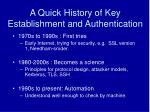 a quick history of key establishment and authentication6