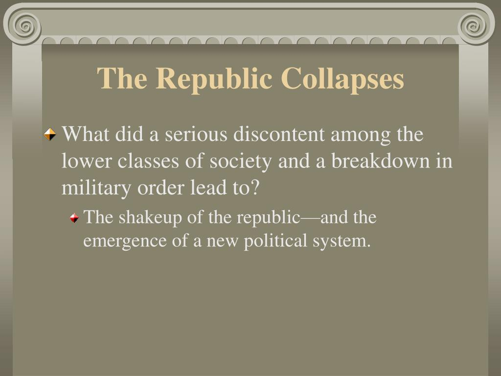The Republic Collapses