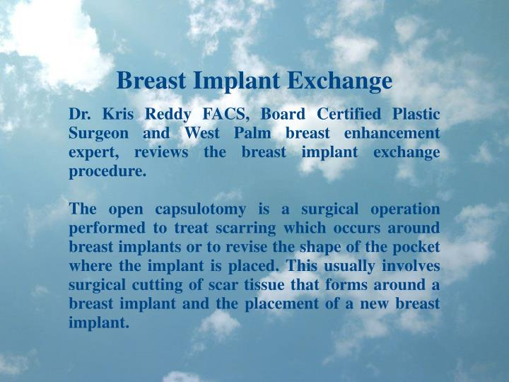 Breast Implant Exchange