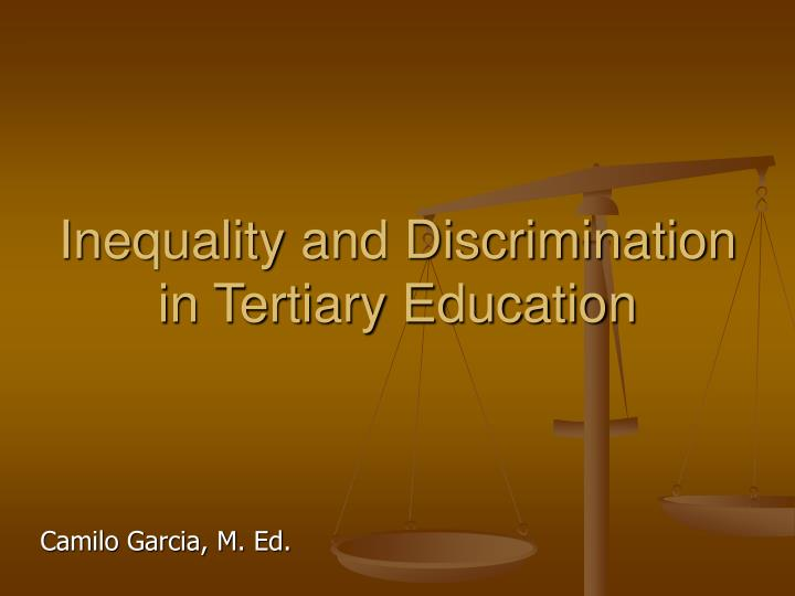 forms of inequality and discrimination Social inequality occurs when there are five systems/types of social inequality which of the state to impose inequality, repression, and discrimination upon.