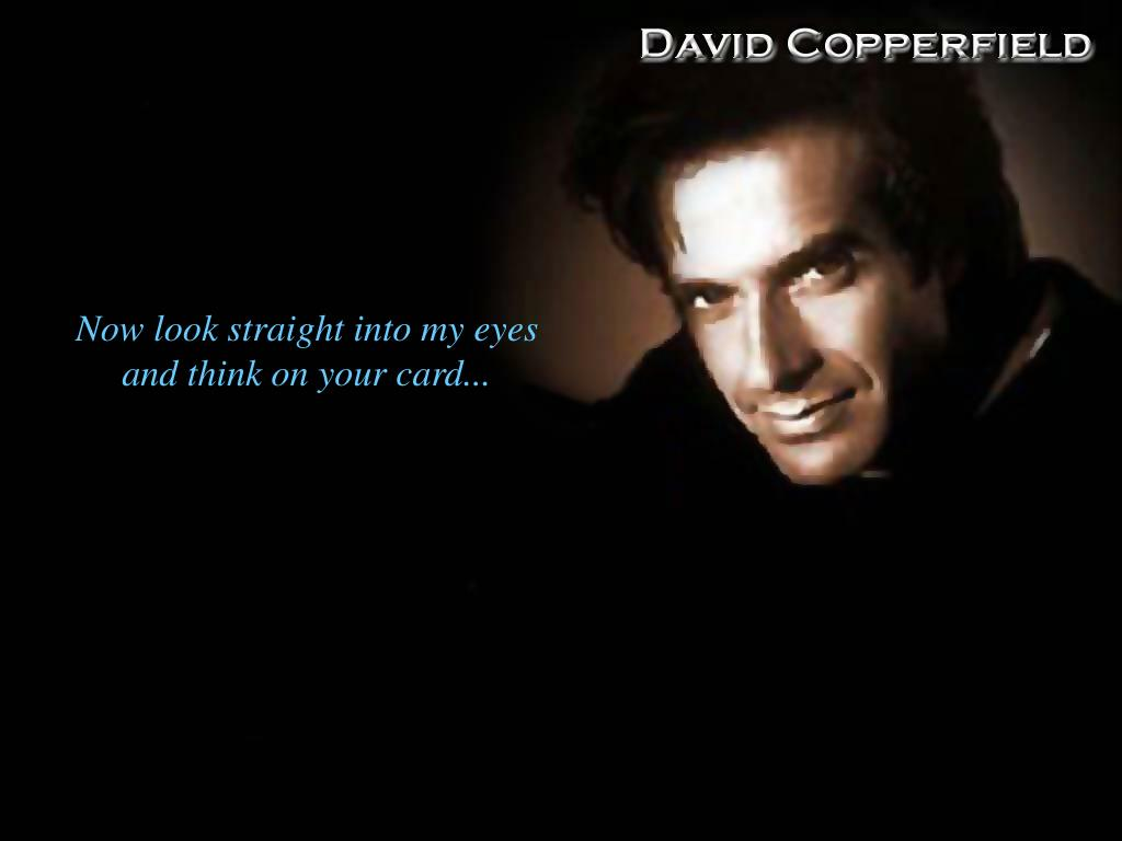 Now look straight into my eyes and think on your card
