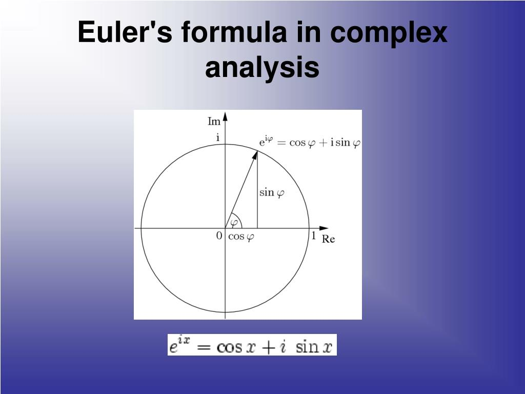 Euler's formula in complex analysis