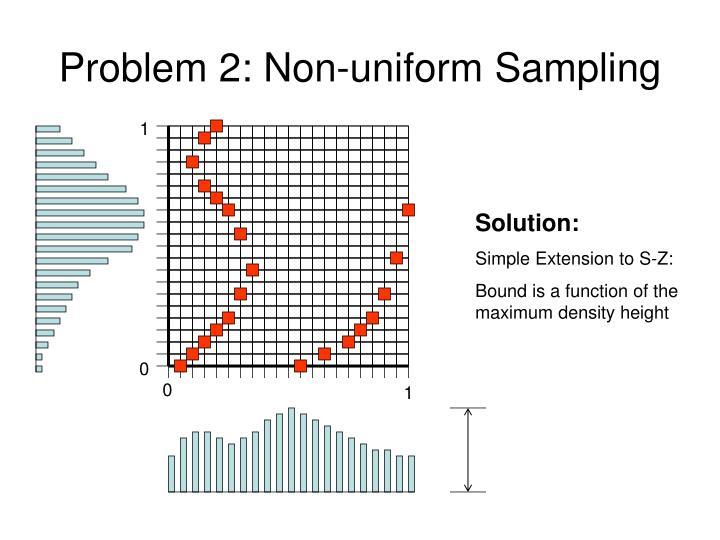 Problem 2: Non-uniform Sampling