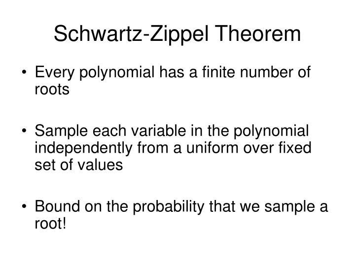 Schwartz-Zippel Theorem