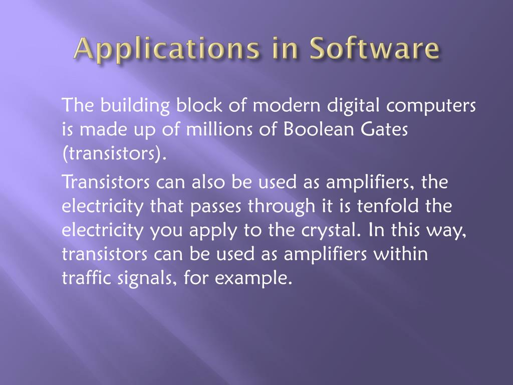 Applications in Software