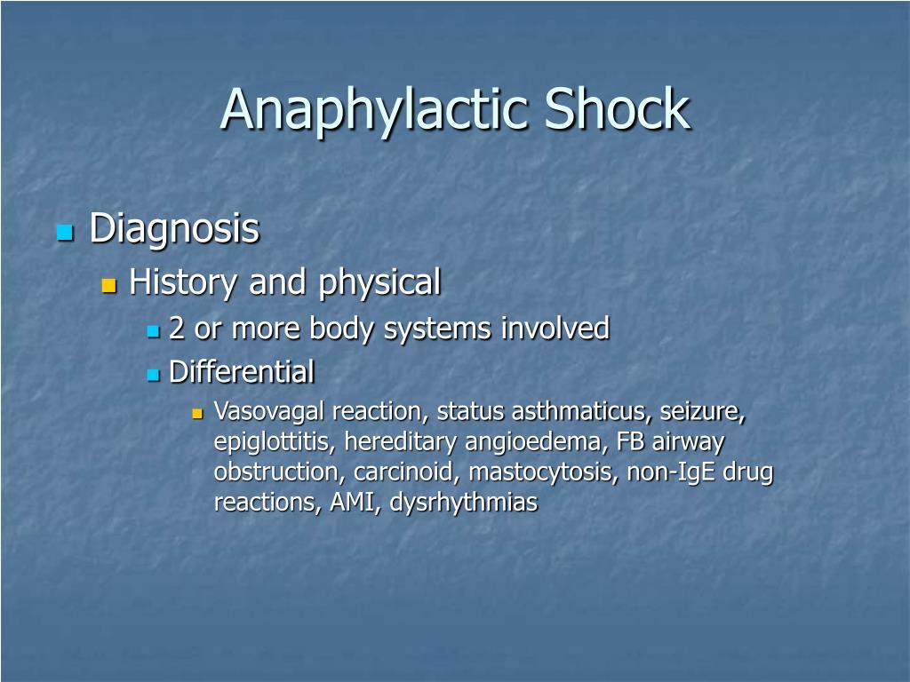 Anaphylactic Shock