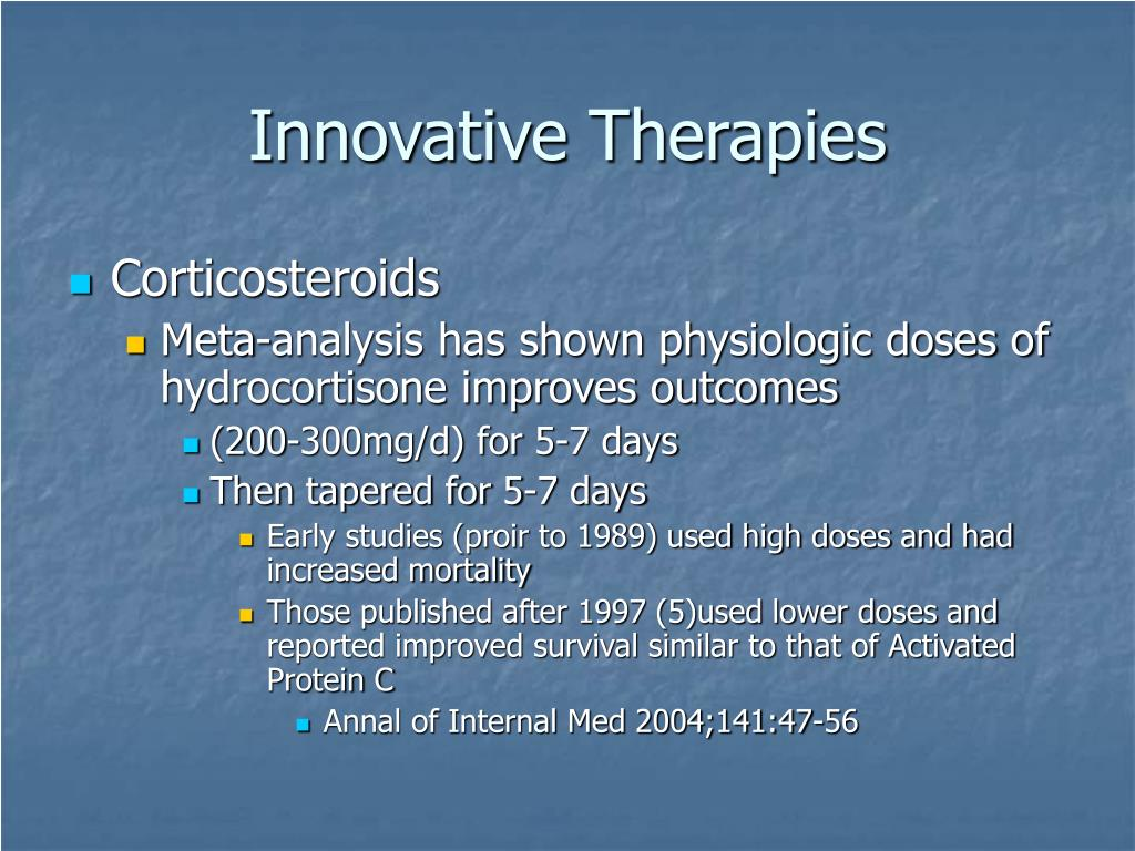 Innovative Therapies