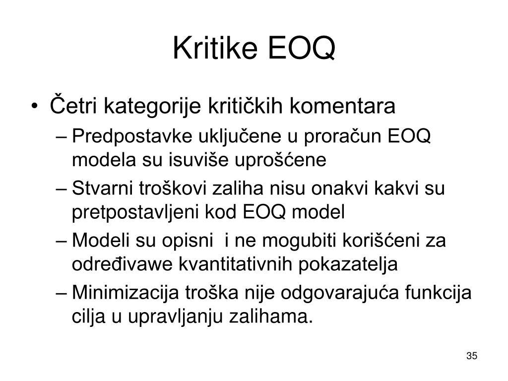 Kritike EOQ