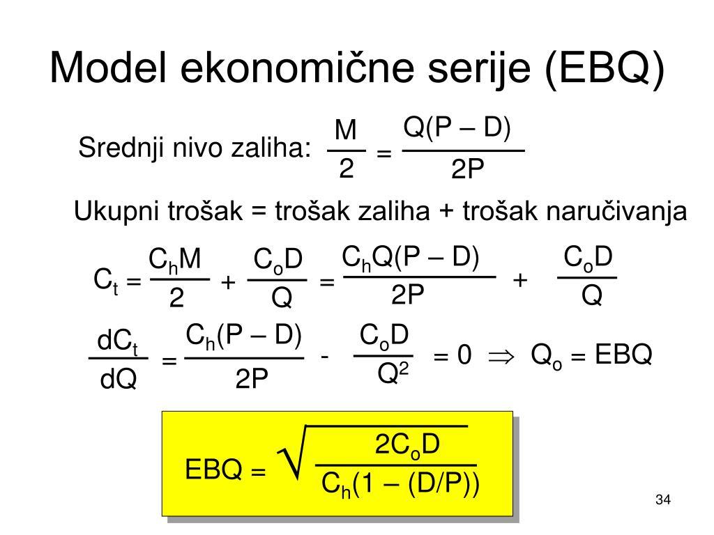 Model ekonomične serije (EBQ)