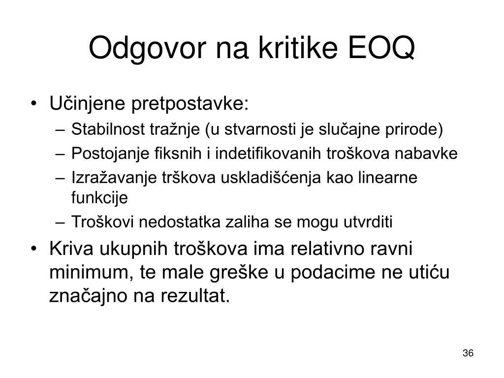 Odgovor na kritike EOQ
