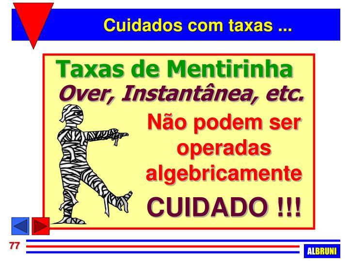 Taxas de Mentirinha