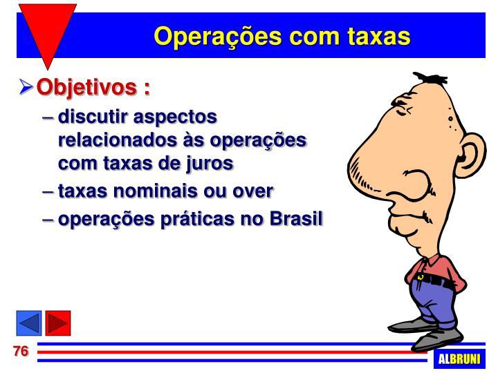 Operações com taxas