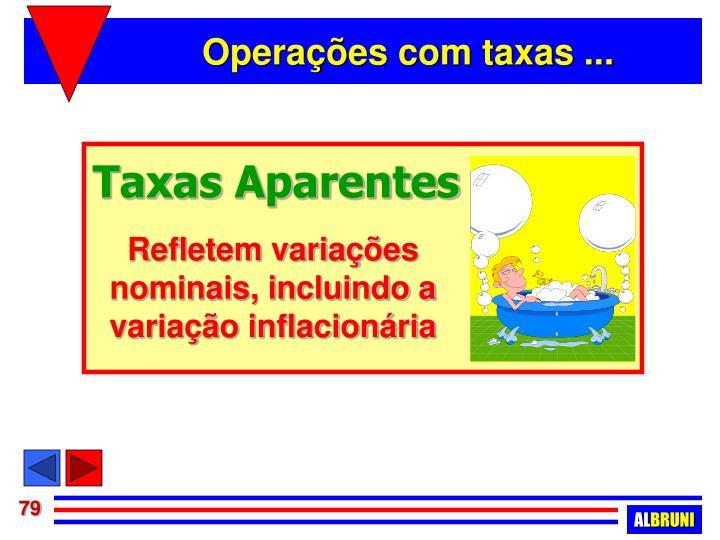 Taxas Aparentes