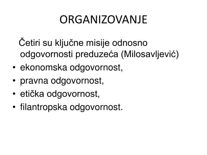 ORGANIZOVANJE
