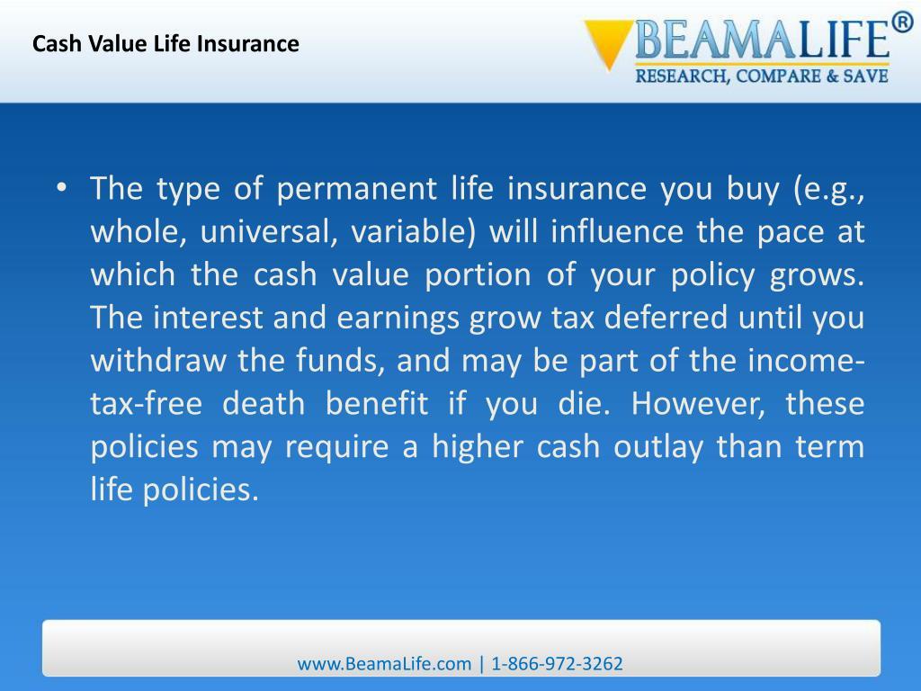 Cash Value Life Insurance