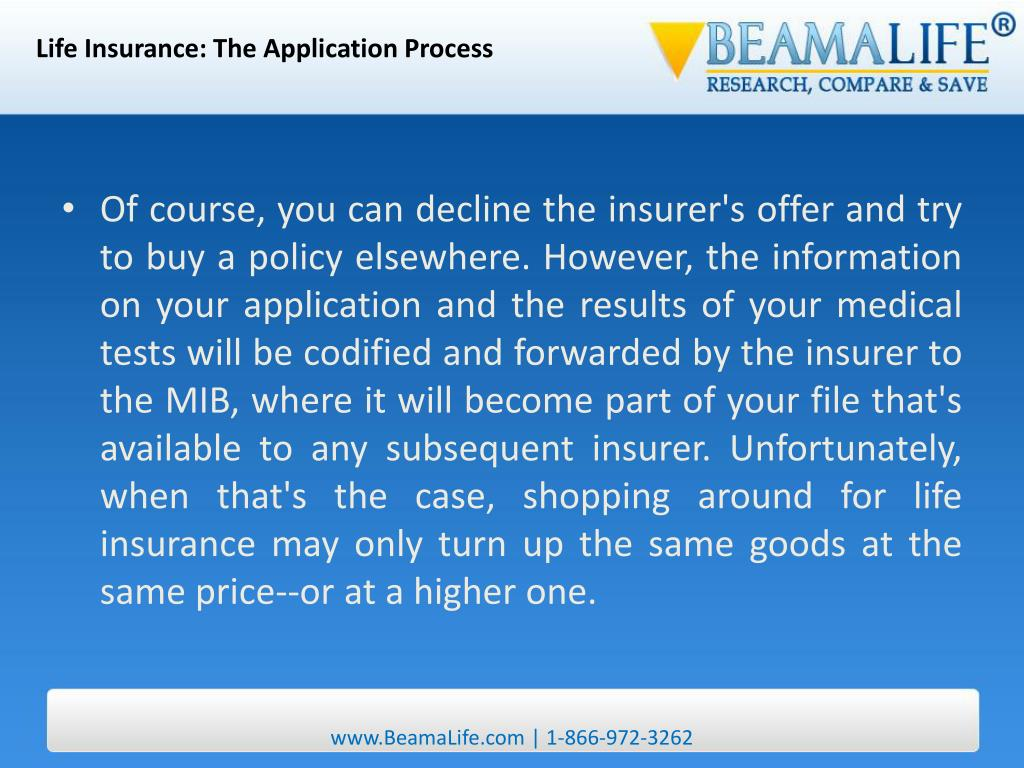Life Insurance: The Application Process