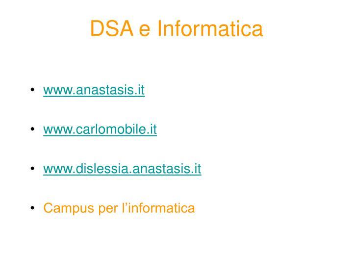 DSA e Informatica