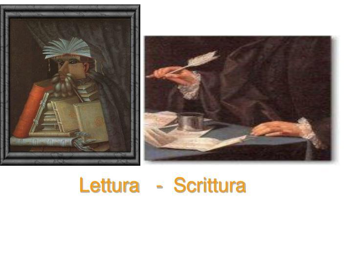 Lettura   -  Scrittura