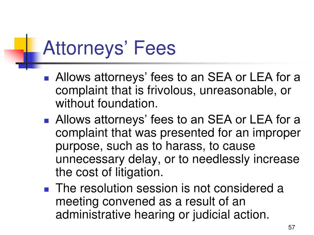 Attorneys' Fees