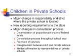 children in private schools