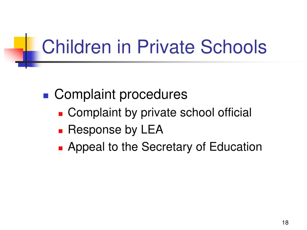 Children in Private Schools