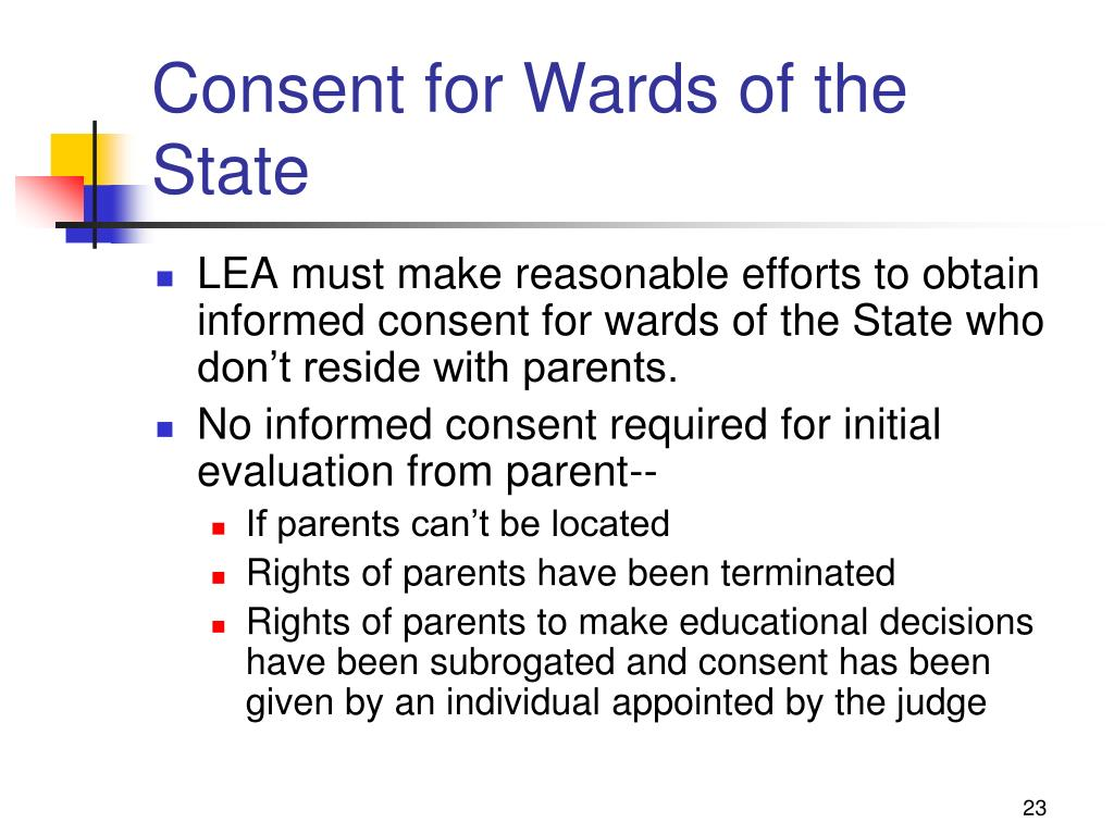 Consent for Wards of the State