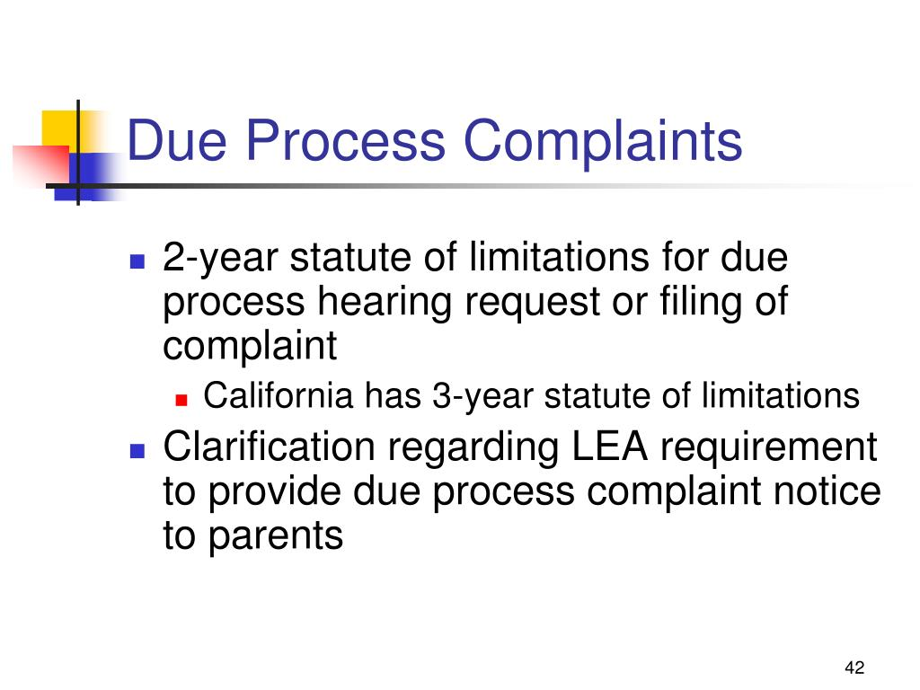 Due Process Complaints