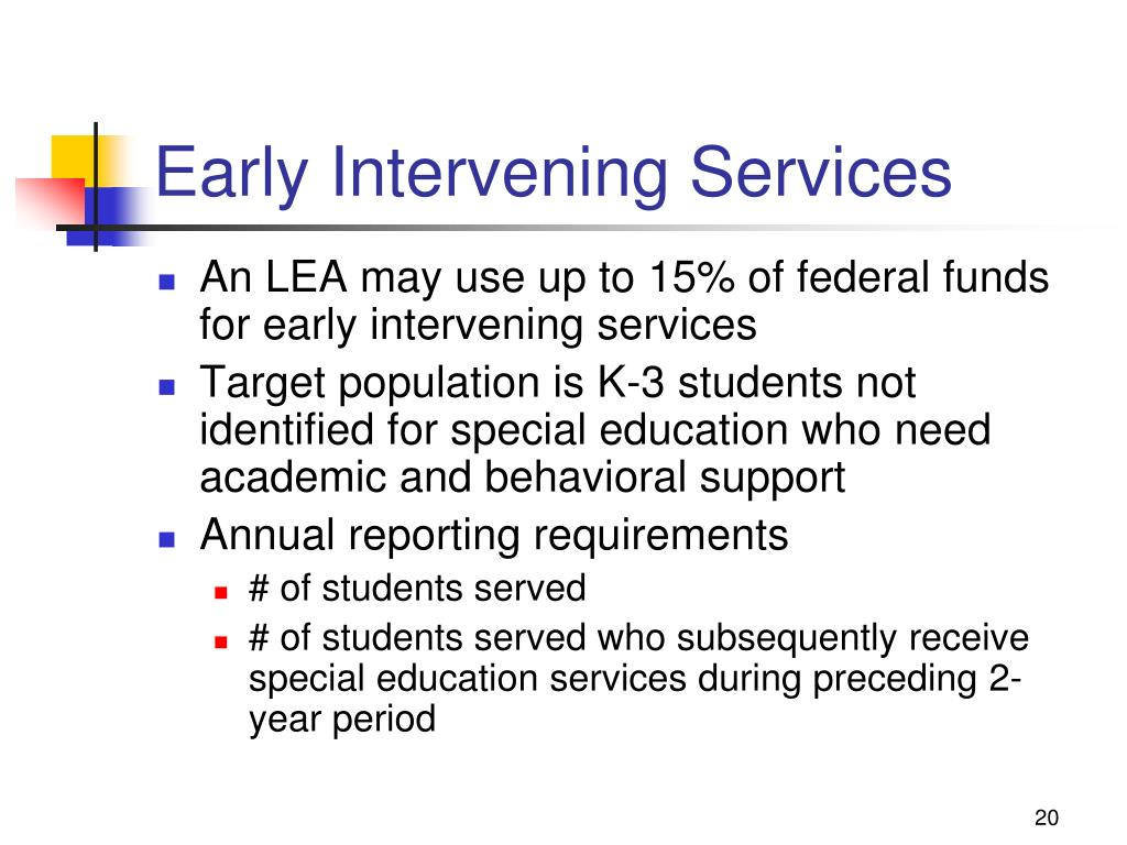 Early Intervening Services