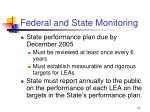 federal and state monitoring73