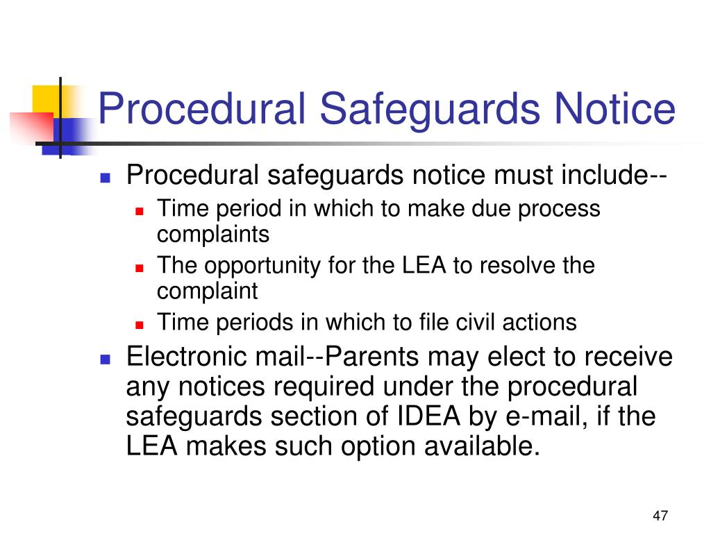 Procedural Safeguards Notice