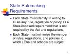 state rulemaking requirements