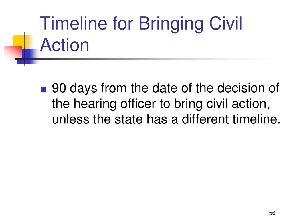 Timeline for Bringing Civil Action