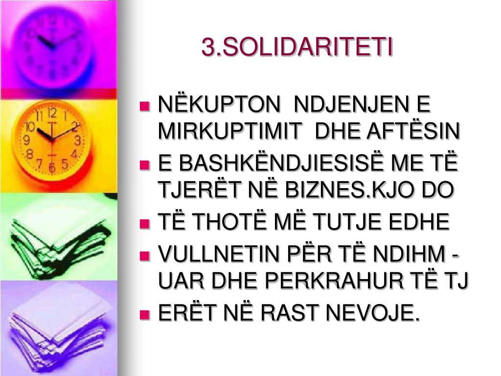 3.SOLIDARITETI