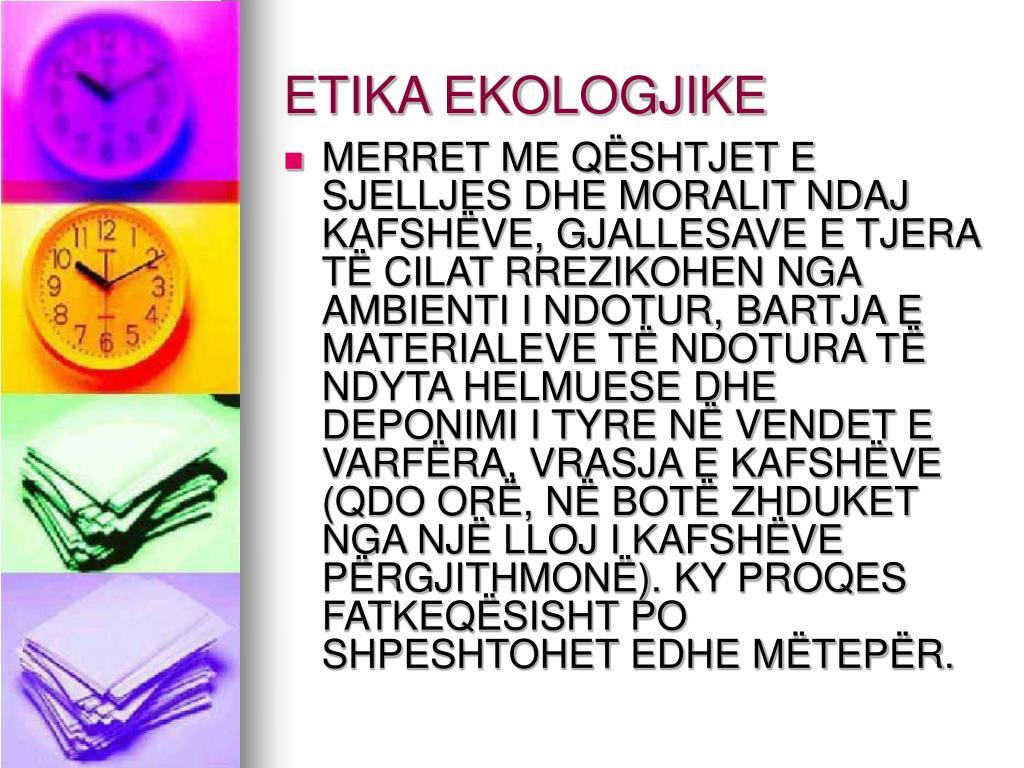 ETIKA EKOLOGJIKE