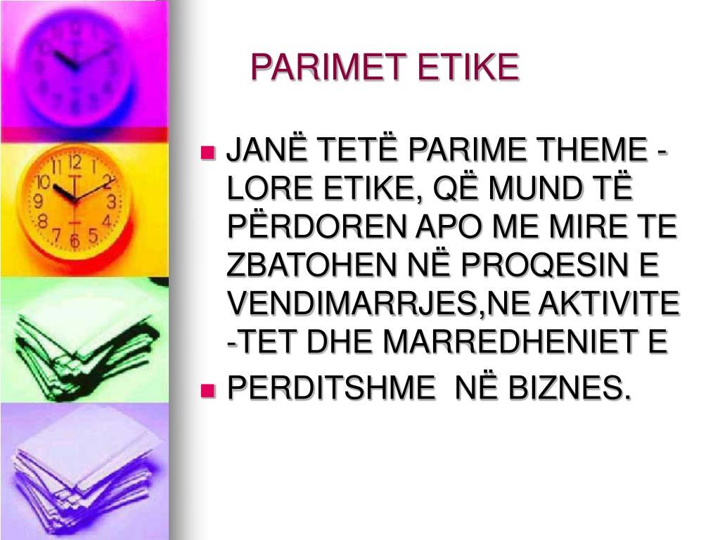 PARIMET ETIKE