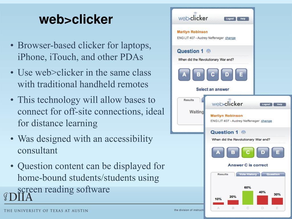 web>clicker