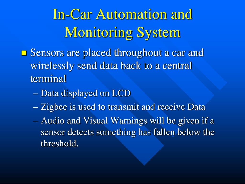 In-Car Automation and Monitoring System
