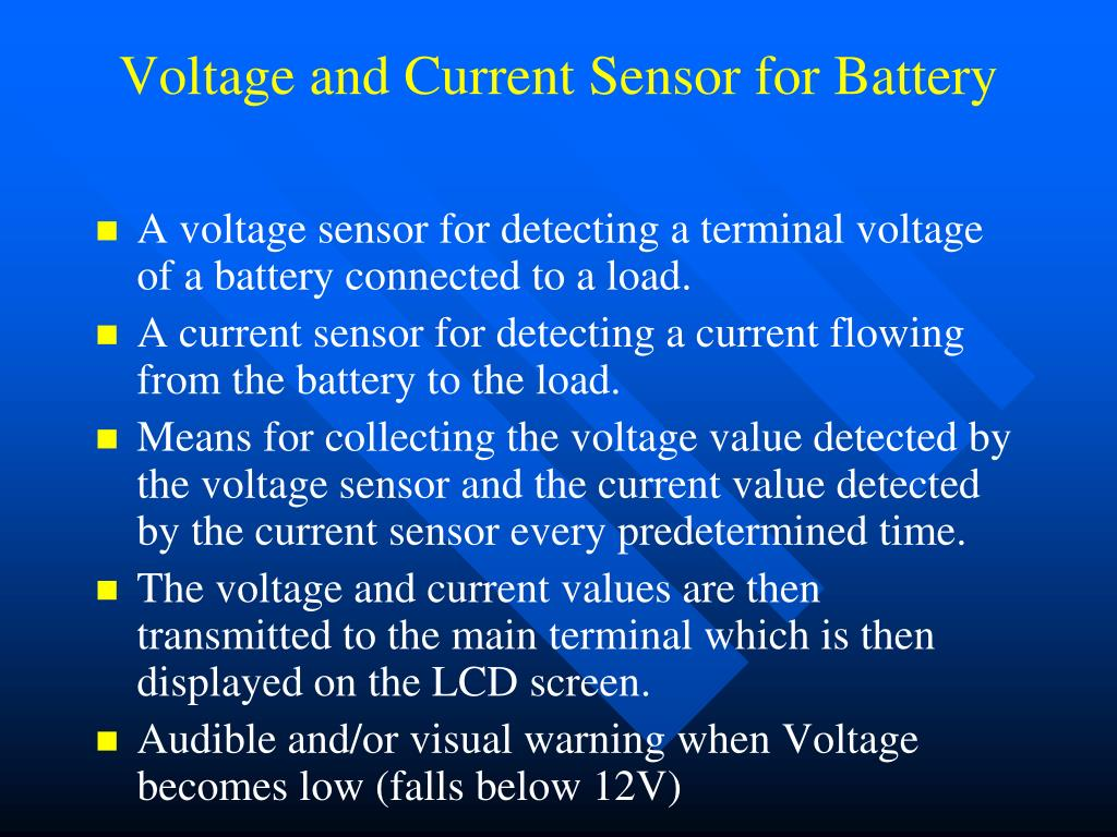 Voltage and Current Sensor for Battery