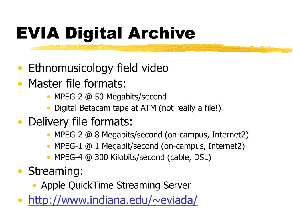 EVIA Digital Archive