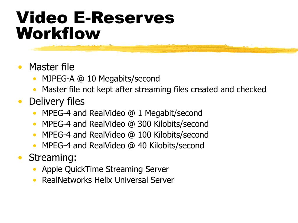 Video E-Reserves Workflow