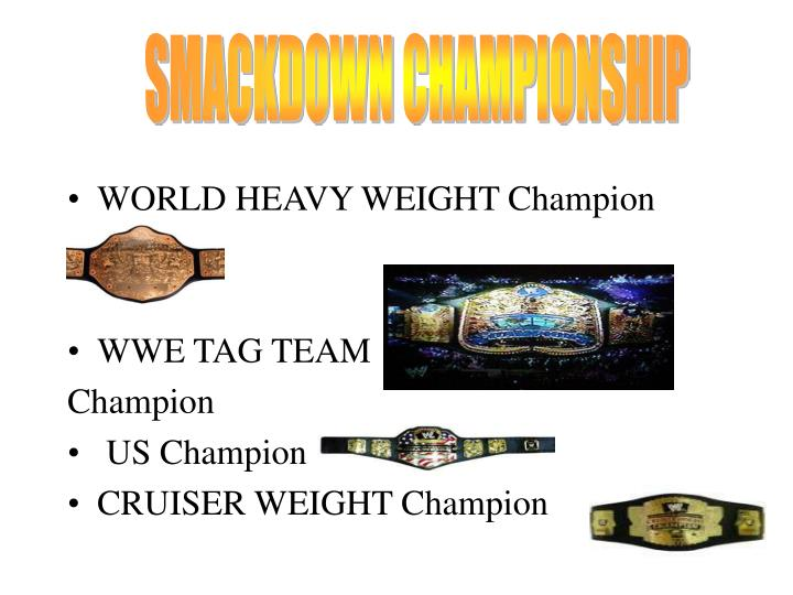 SMACKDOWN CHAMPIONSHIP