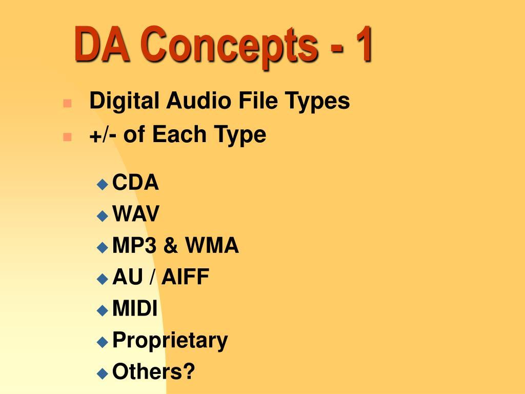 DA Concepts - 1