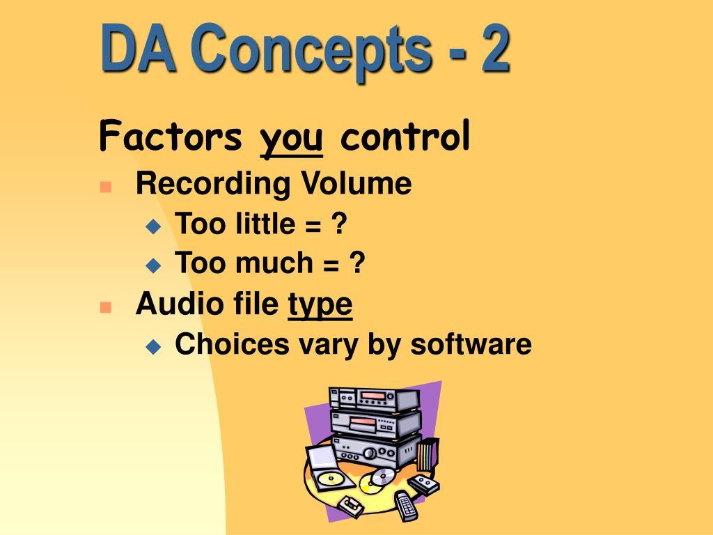 DA Concepts - 2