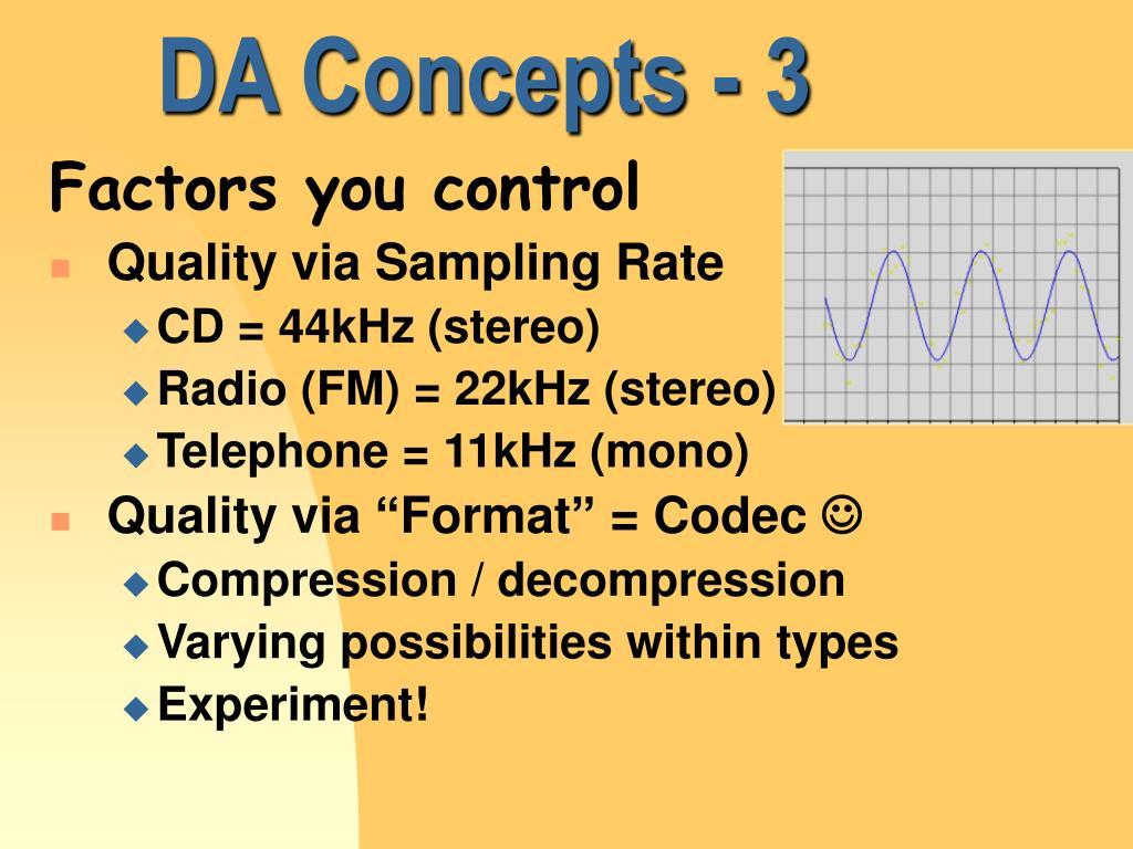 DA Concepts - 3