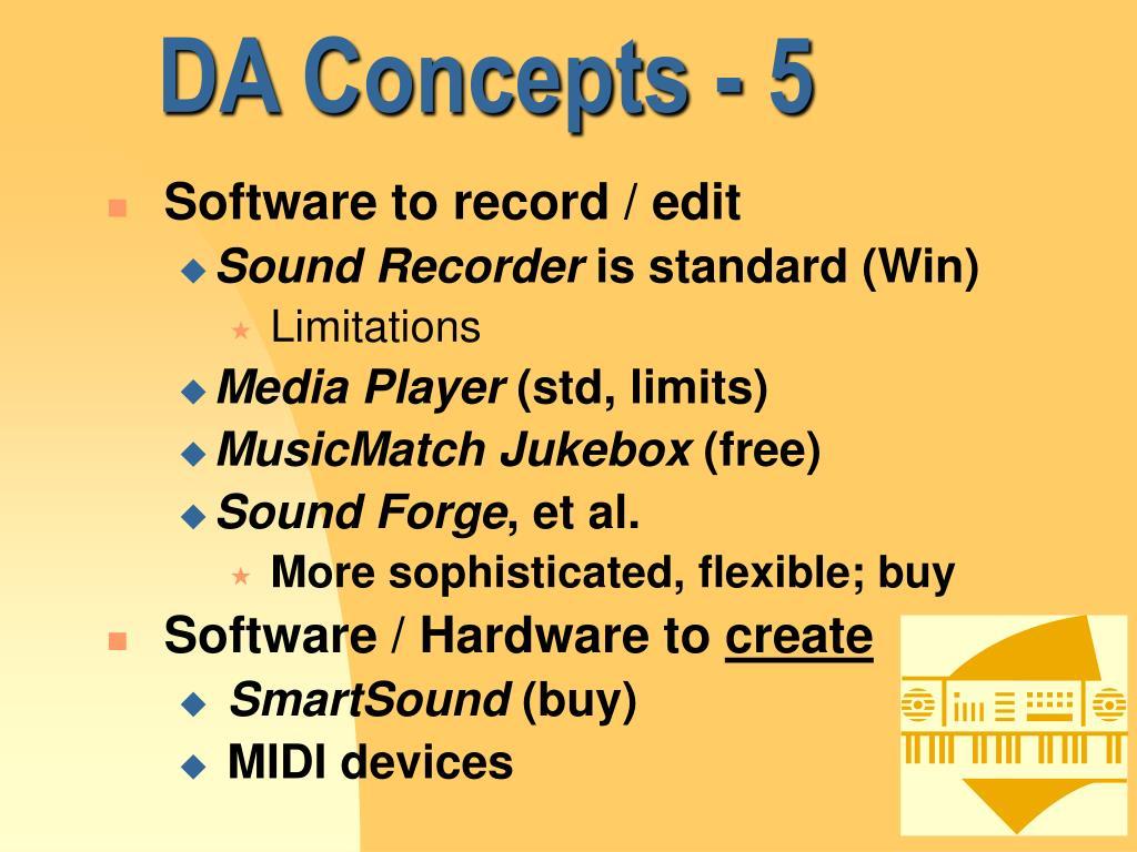 DA Concepts - 5
