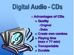 digital audio cds