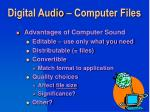 digital audio computer files