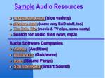 sample audio resources