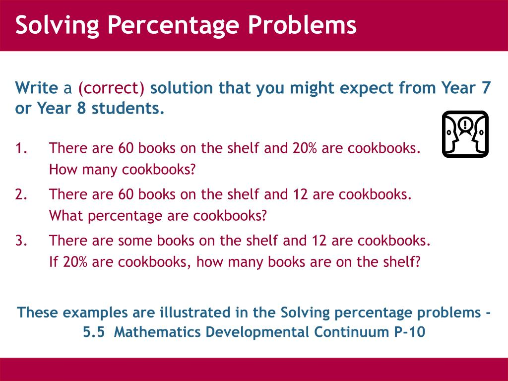 Solving Percentage Problems