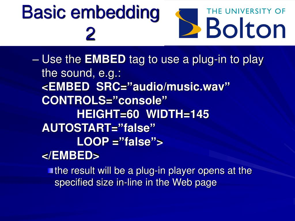 Basic embedding 2